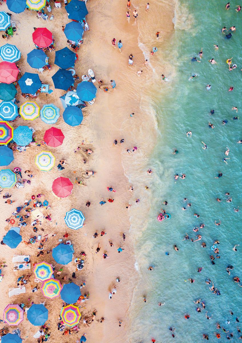 Day at the Beach, Mexico Beach Jigsaw Puzzle