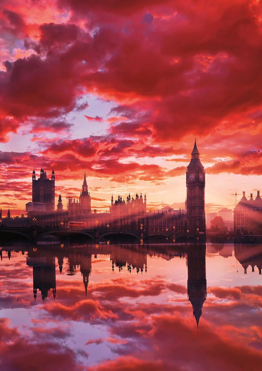 Big Ben London Sunset London Jigsaw Puzzle