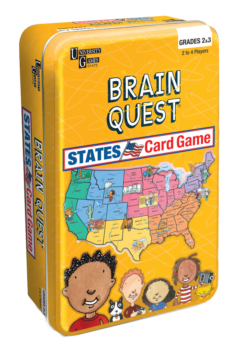 Brain Quest States Card Game Tin