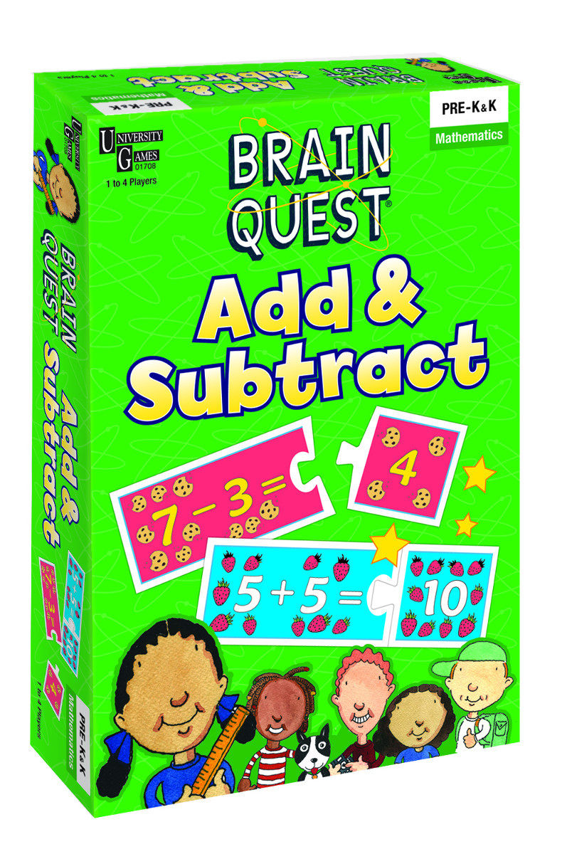 Brain Quest Add & Subtract Game Math