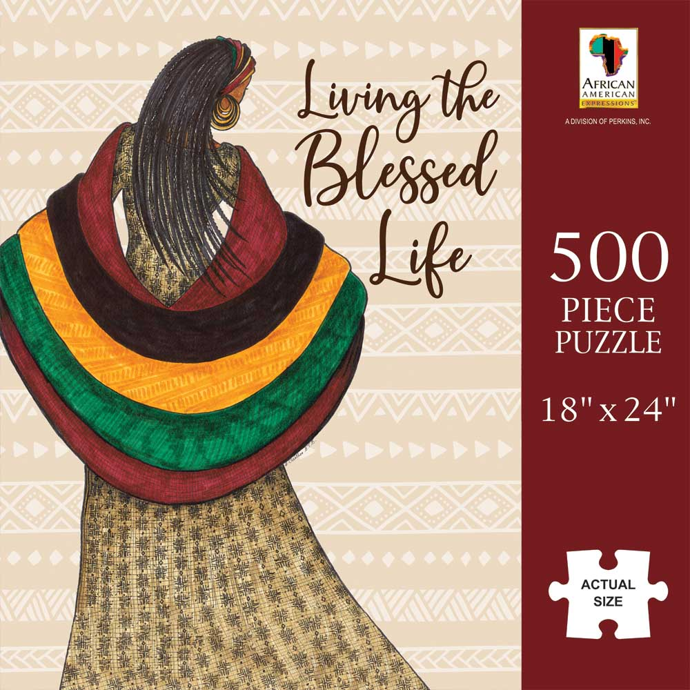 Blessed Life African American Jigsaw Puzzle
