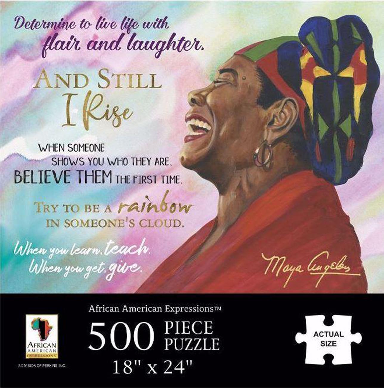 Maya Angelou Famous People Jigsaw Puzzle
