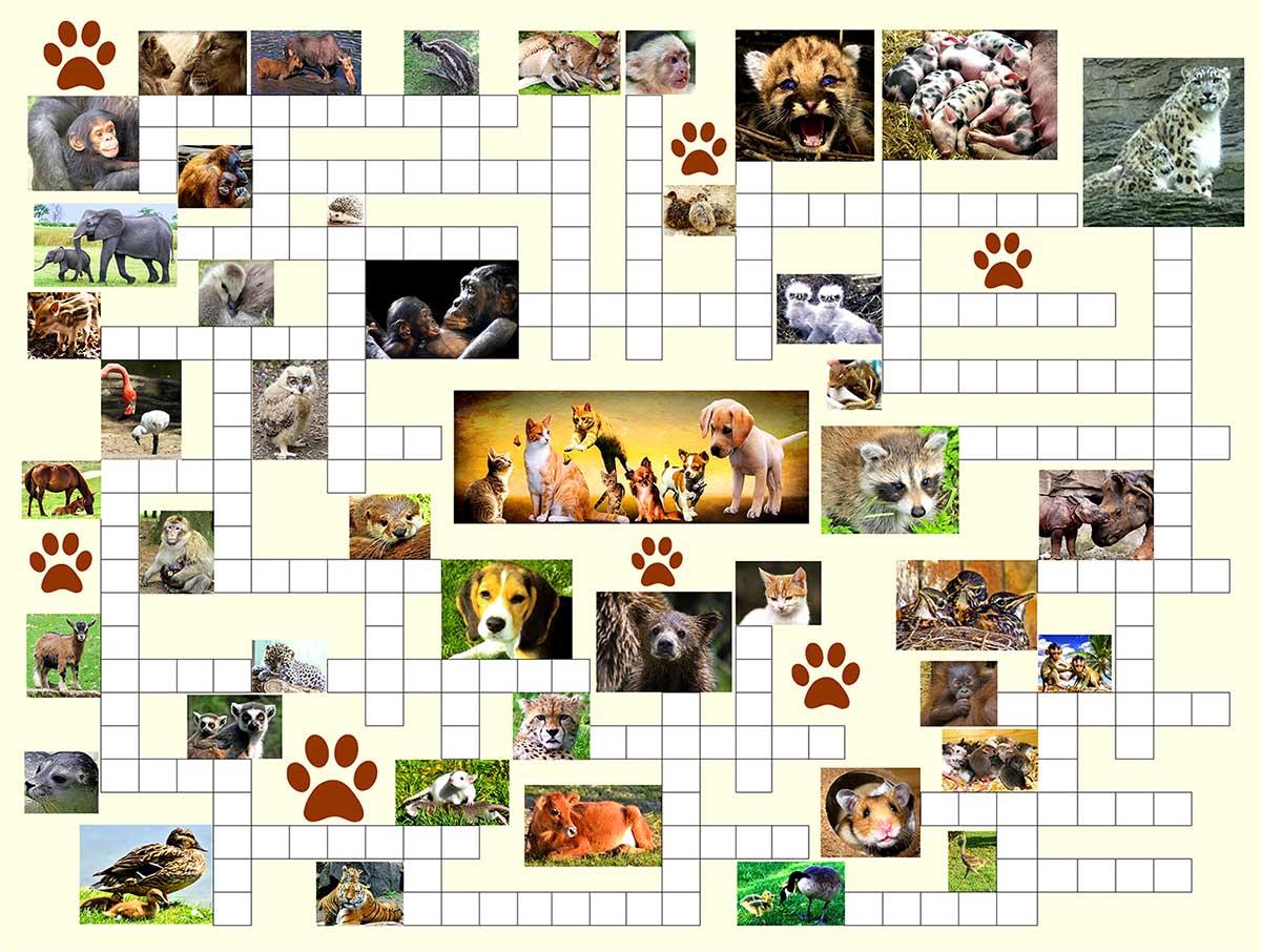Animal Nursery Animals Jigsaw Puzzle