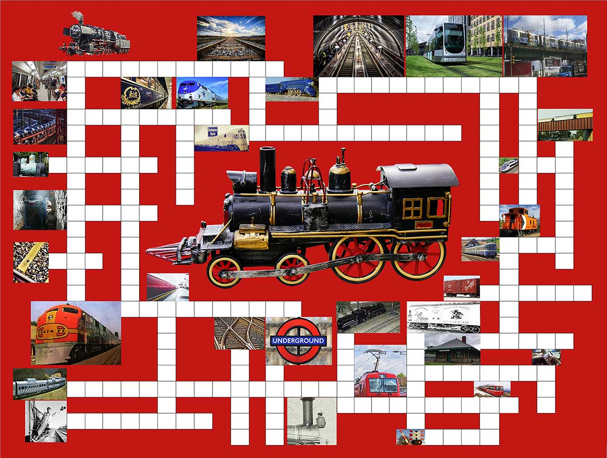 Riding the Rails Trains Jigsaw Puzzle