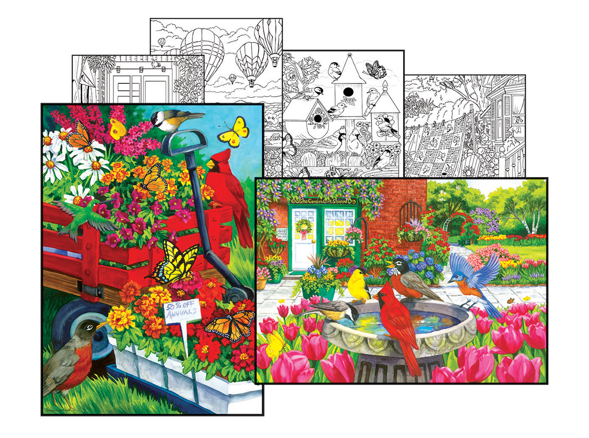 Nancy Wernersbach Coloring Page & Puzzle Set Jigsaw Puzzle ...
