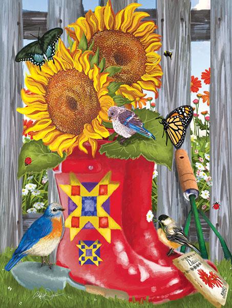Summer Galoshes Birds Jigsaw Puzzle