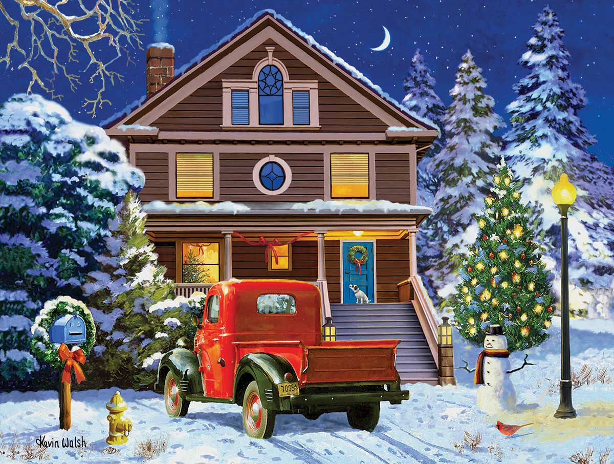 Christmas Night Visit Cars Jigsaw Puzzle