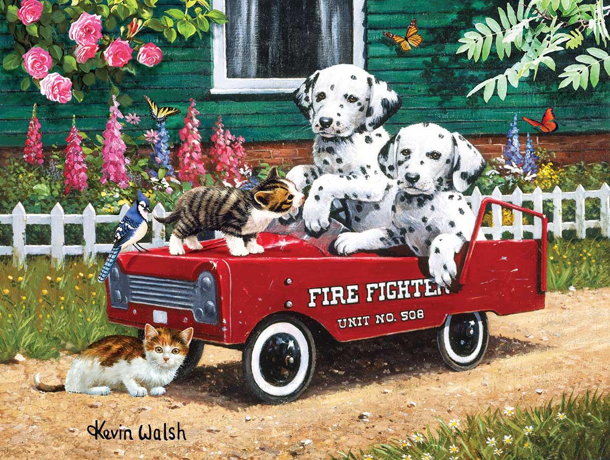 Fireman Friends Cats Jigsaw Puzzle
