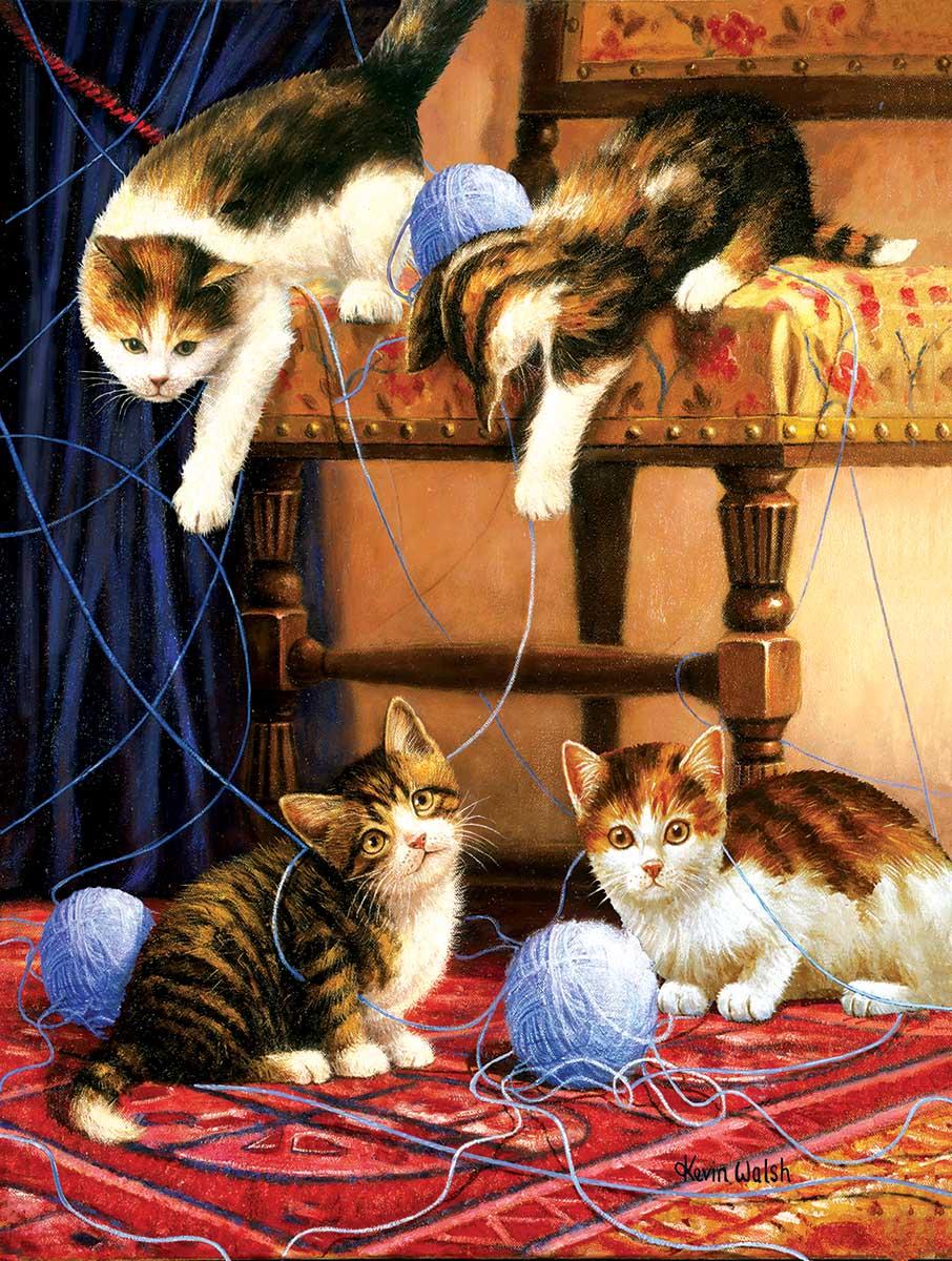 Balls of Yarn Cats Jigsaw Puzzle