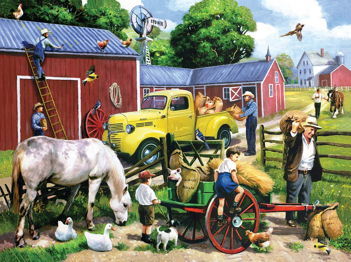 Summer Farm Days Farm Jigsaw Puzzle