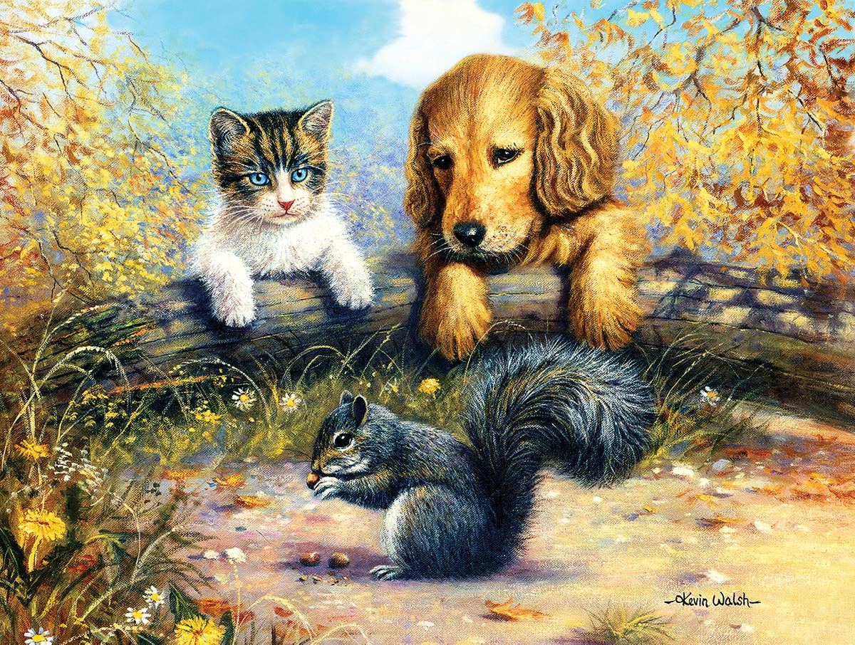 A Grand Stand View Cats Jigsaw Puzzle