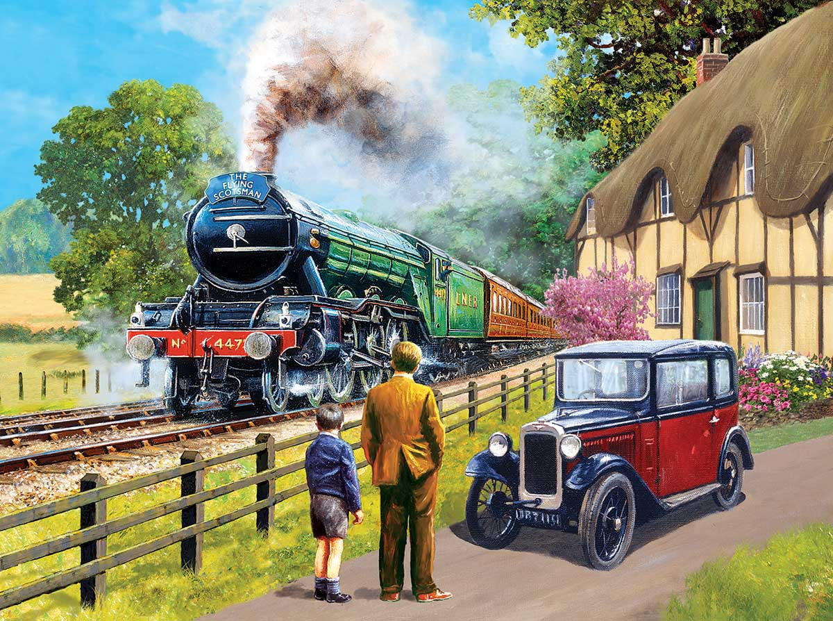 The Flying Scotsman Trains Jigsaw Puzzle