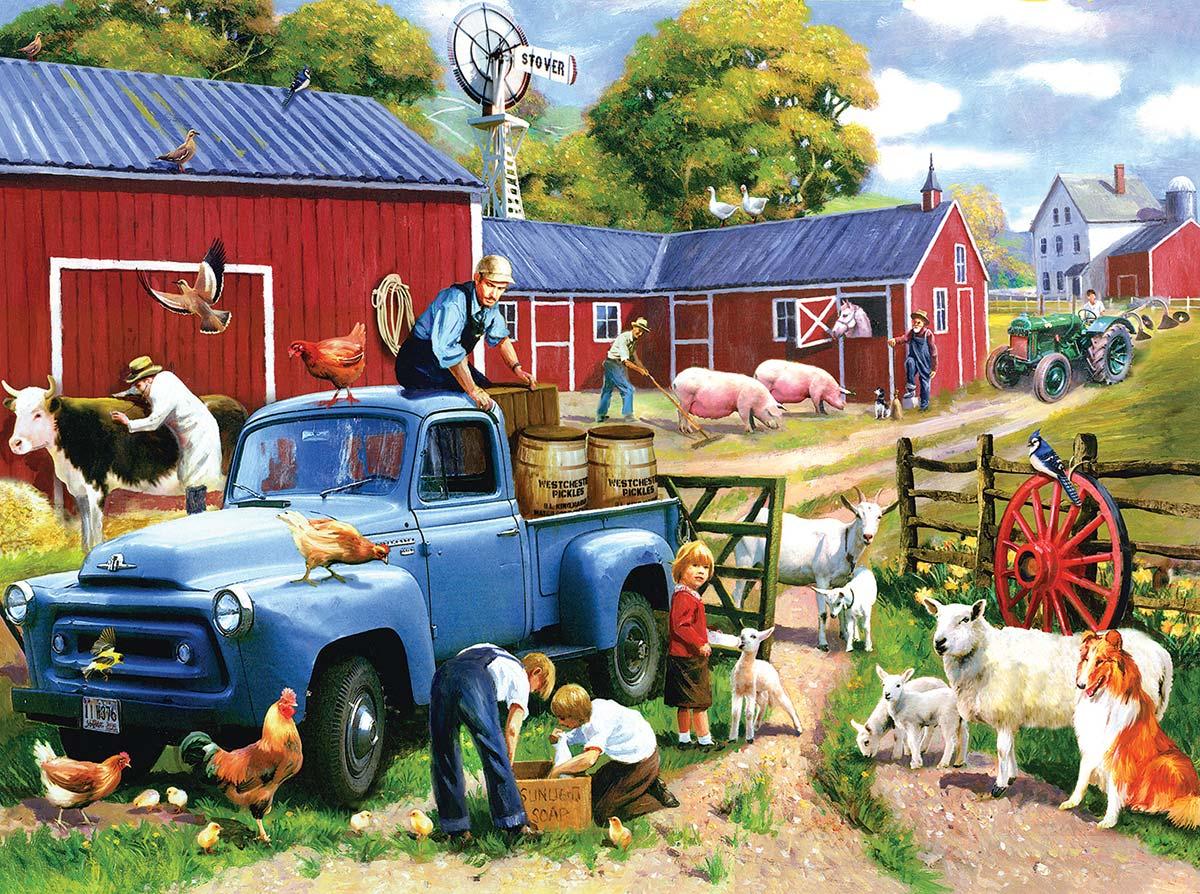 Spring Farm Days Farm Jigsaw Puzzle