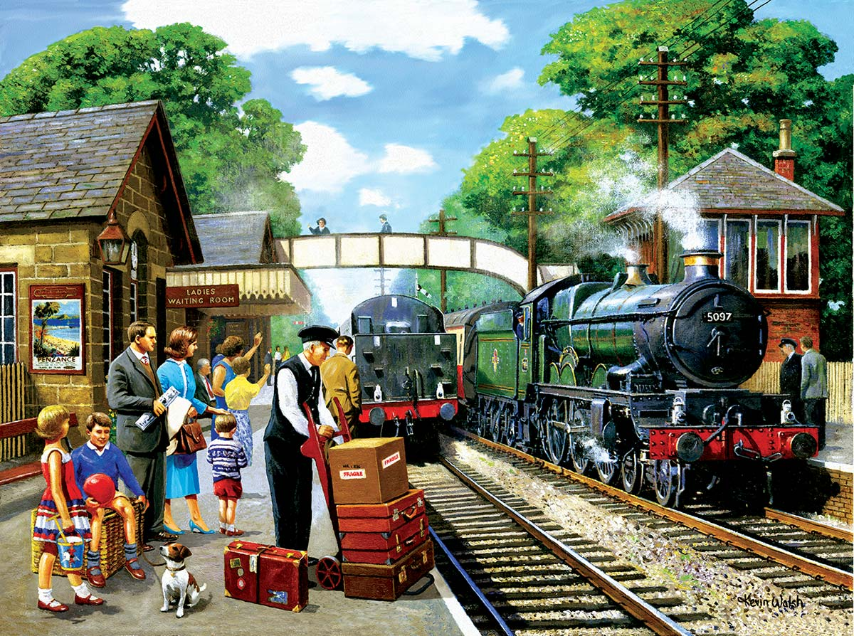 The Train to the Coast Travel Jigsaw Puzzle