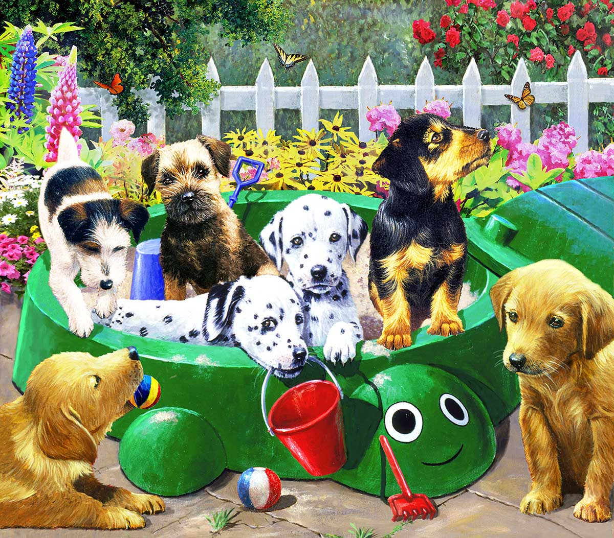 Puppy Nursery Dogs Jigsaw Puzzle