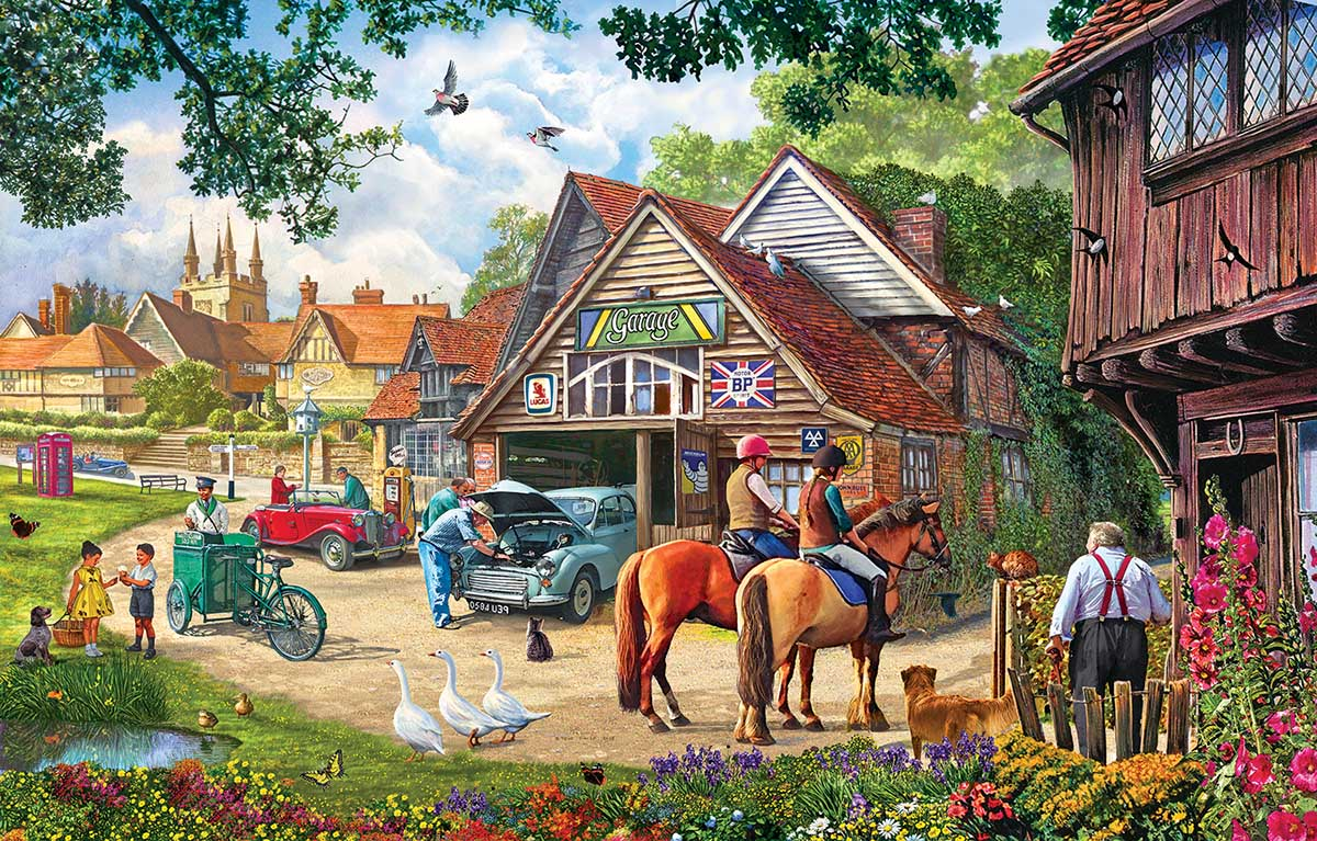 The Old Garage Cars Jigsaw Puzzle