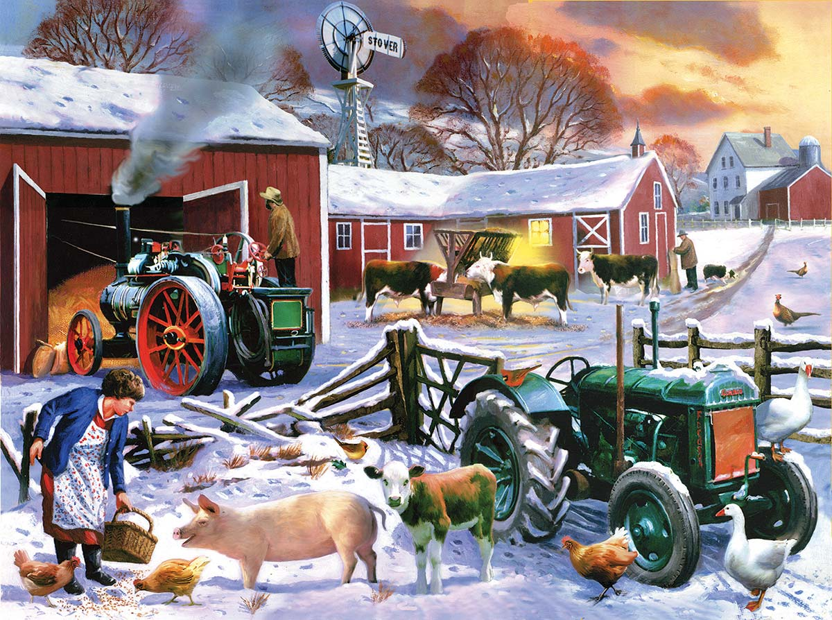 Wintertime Farm Farm Animals Jigsaw Puzzle