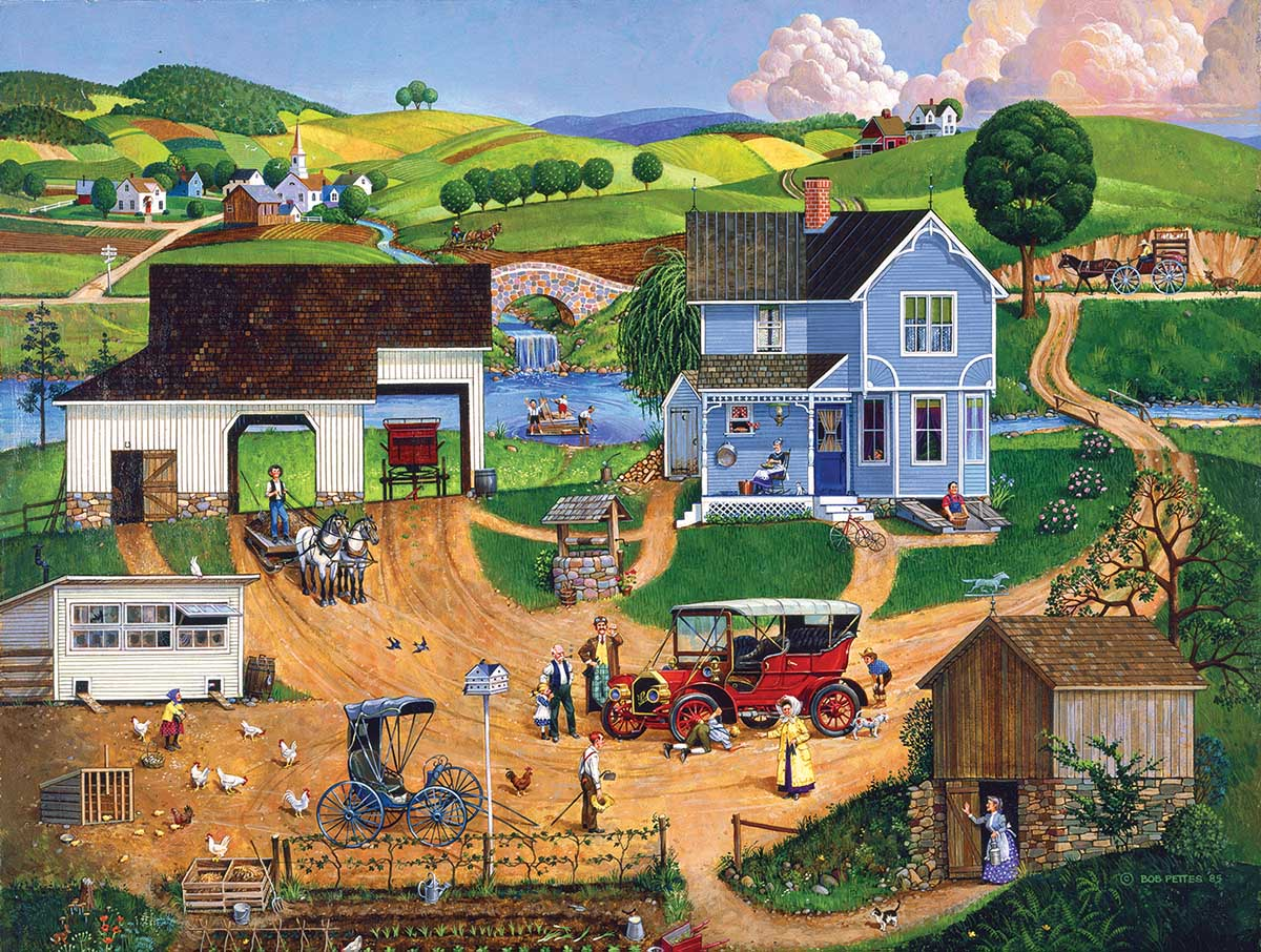 Stay for Dinner Countryside Jigsaw Puzzle