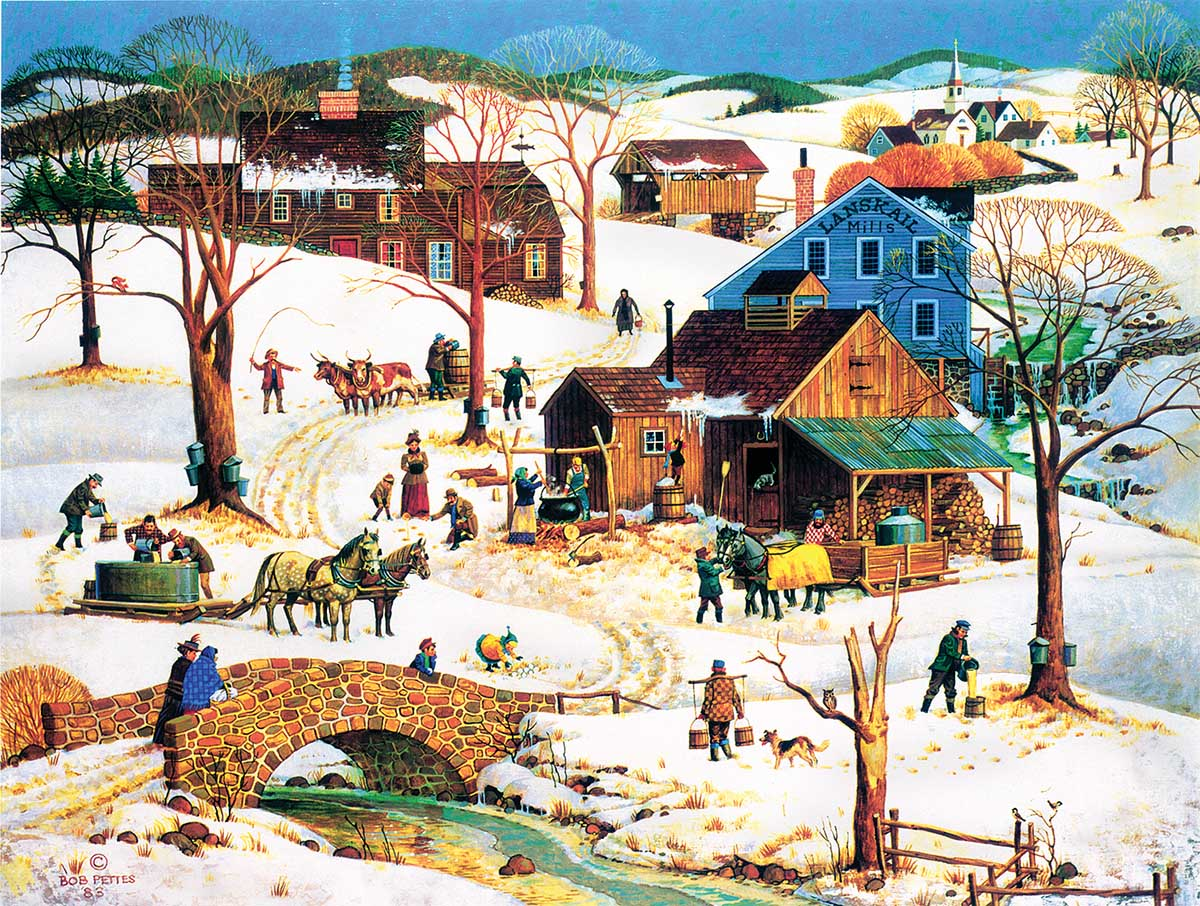 Maple Sugar Time Winter Jigsaw Puzzle