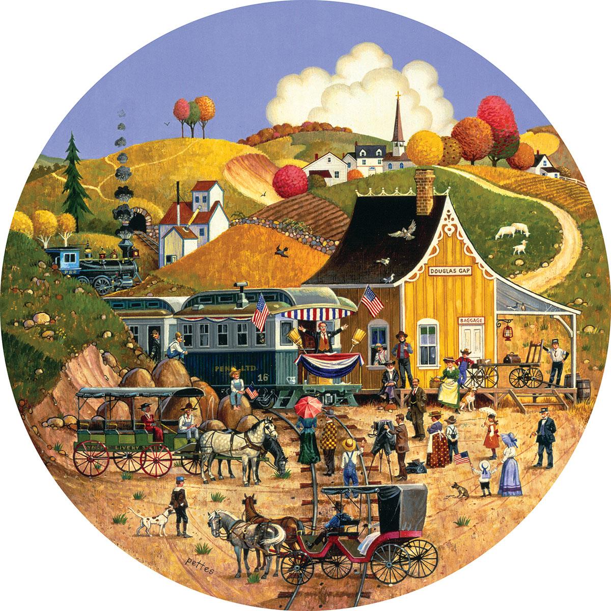 Douglas Gap Americana & Folk Art Shaped Puzzle