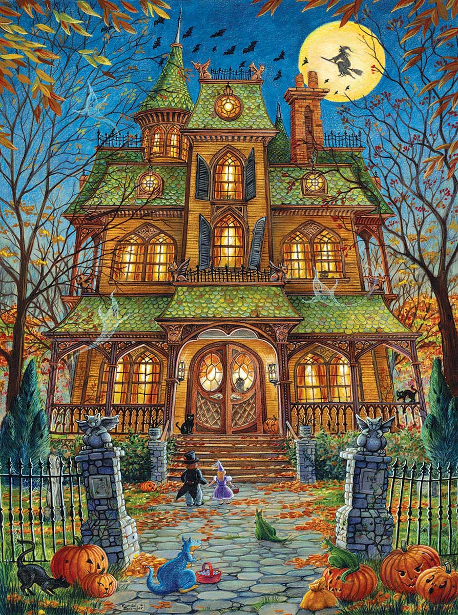 The Trick or Treat House Halloween Jigsaw Puzzle