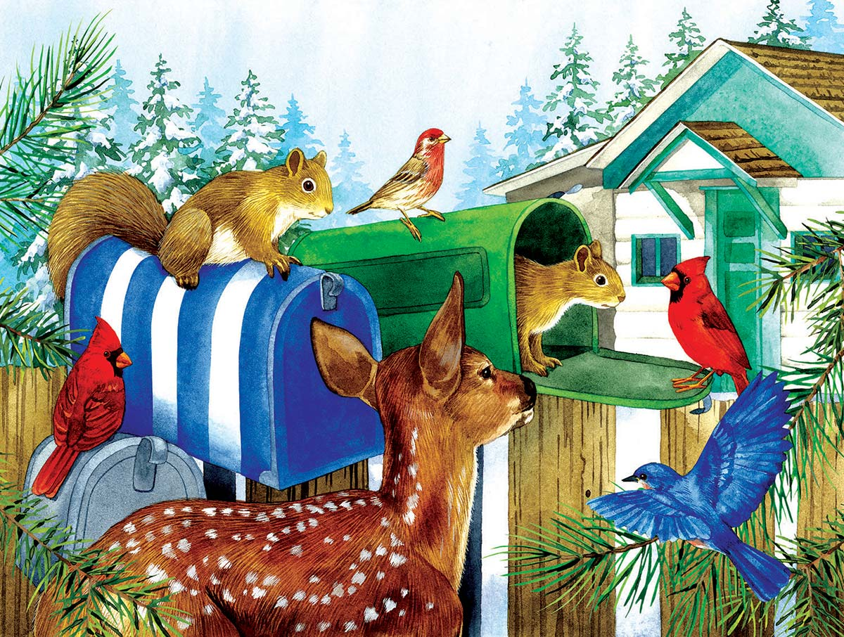 Rural Mailboxes Animals Jigsaw Puzzle