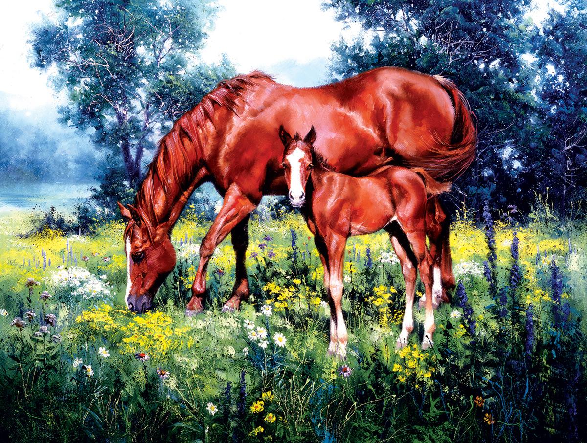 Daisy Horses Jigsaw Puzzle