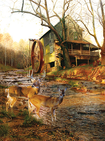 Mill Creek Cross Countryside Jigsaw Puzzle