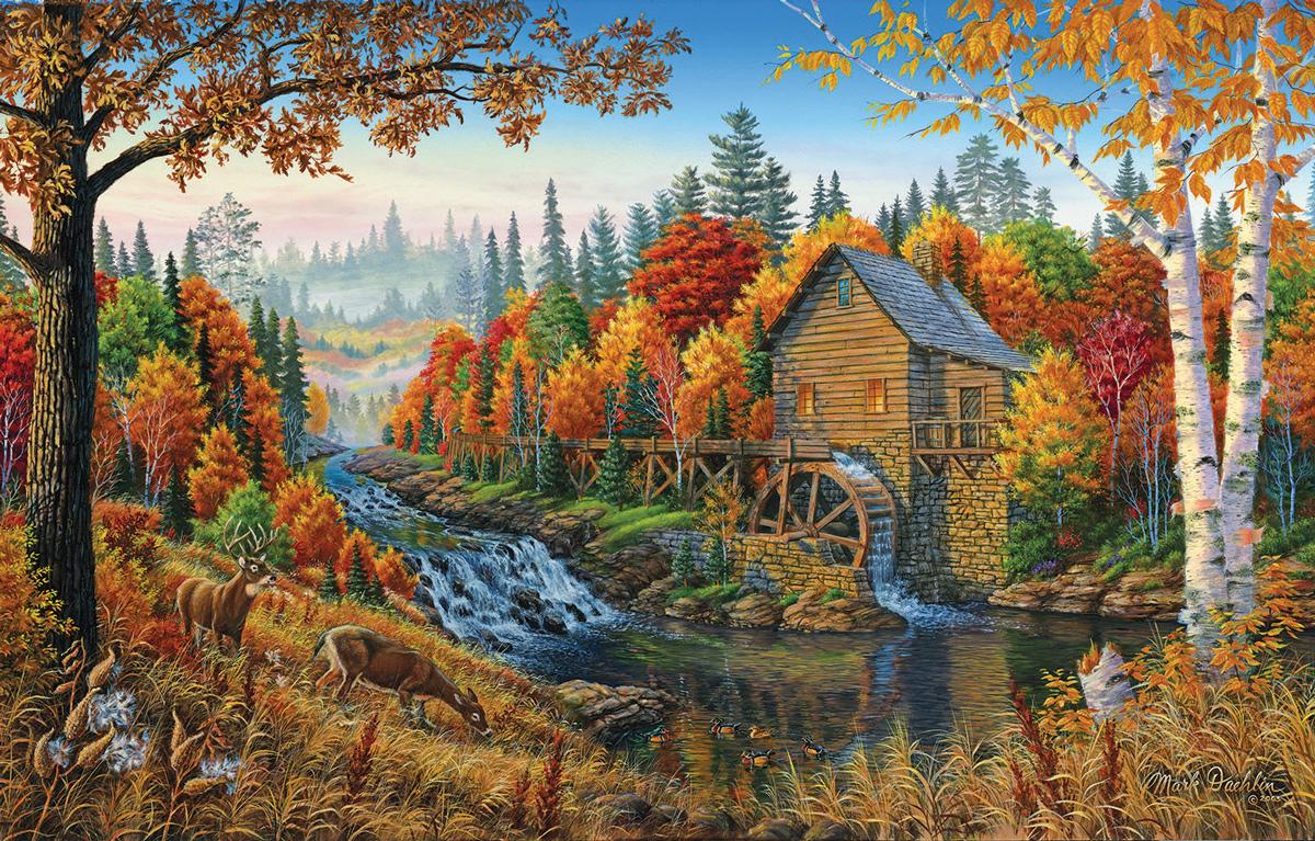 Johnson's Mill Fall Jigsaw Puzzle
