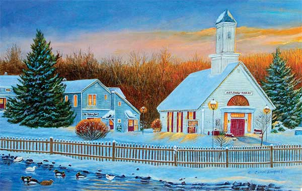 Sunrise Village Winter Jigsaw Puzzle