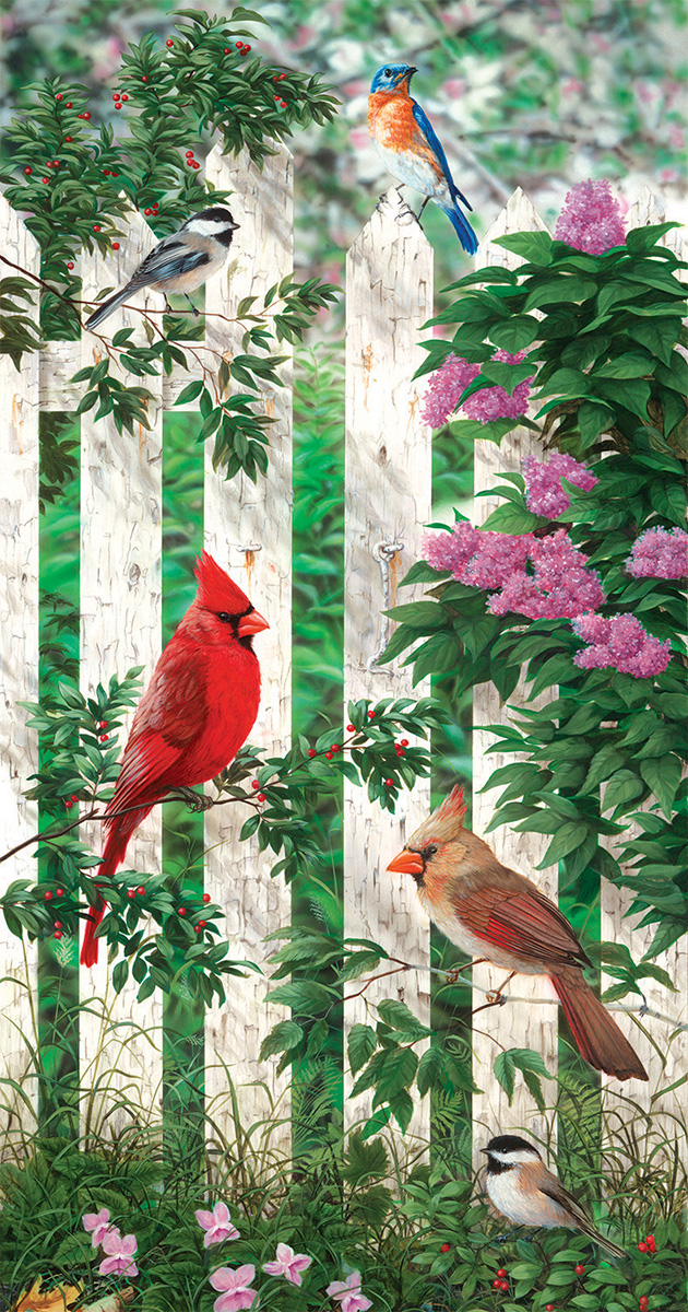 Picket Fence - Scratch and Dent Birds Jigsaw Puzzle