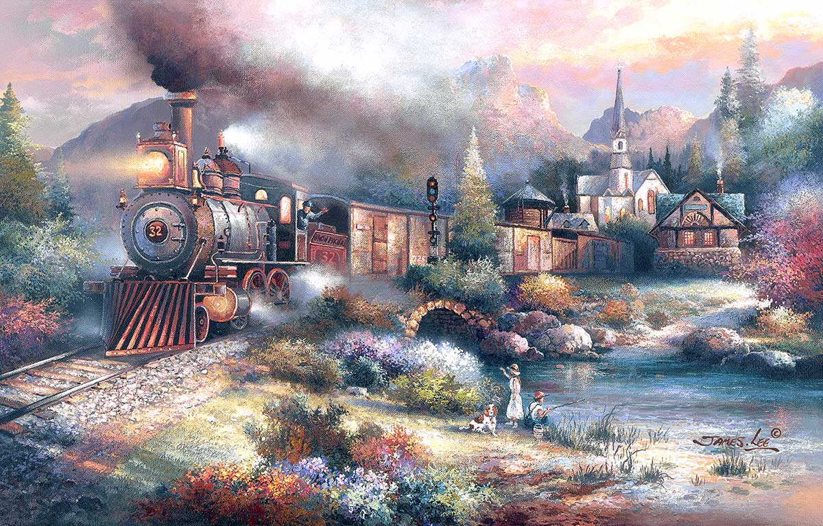 Maryland Mountain Express Trains Jigsaw Puzzle