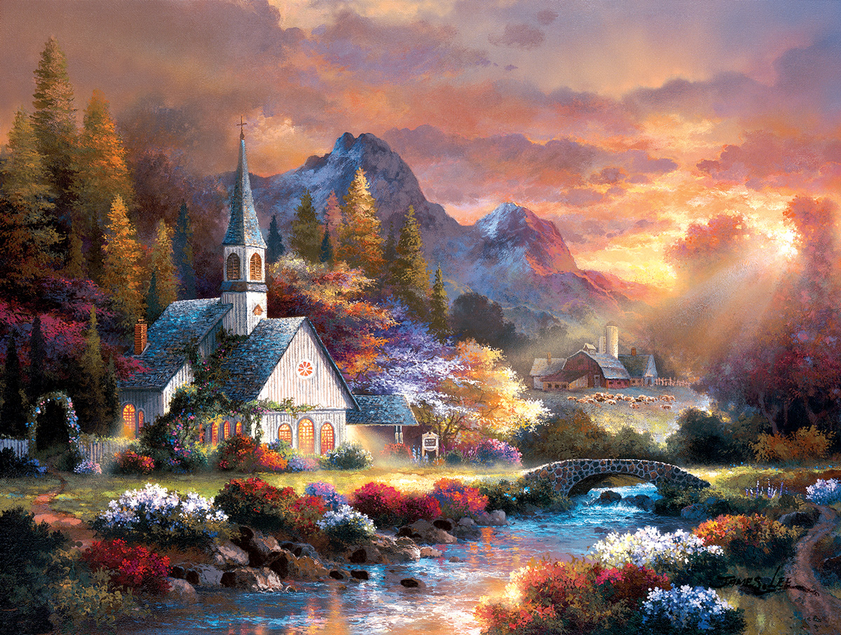 Morning of Hope Mountains Jigsaw Puzzle
