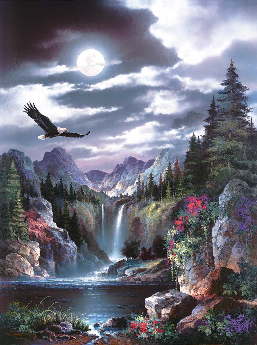 Moonlit Eagle Eagles Jigsaw Puzzle