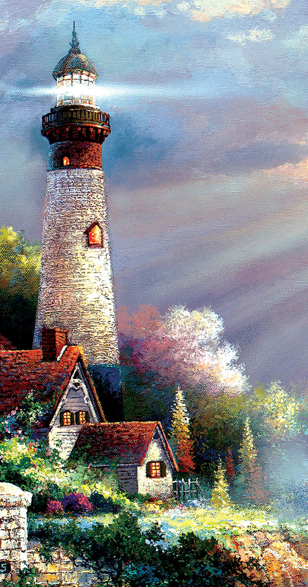 Peaceful Reflections Lighthouses Jigsaw Puzzle