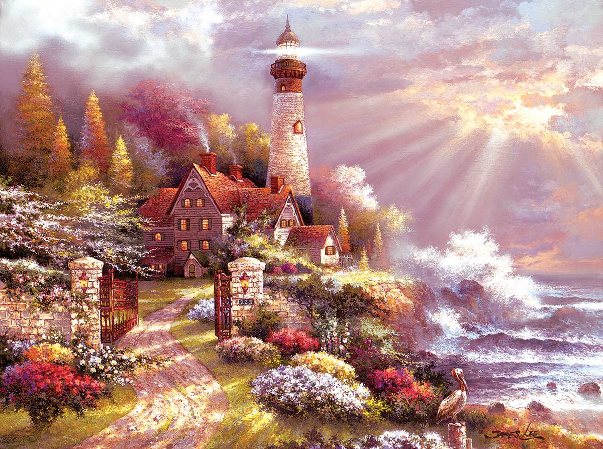 Coastal Splendor Lighthouses Jigsaw Puzzle