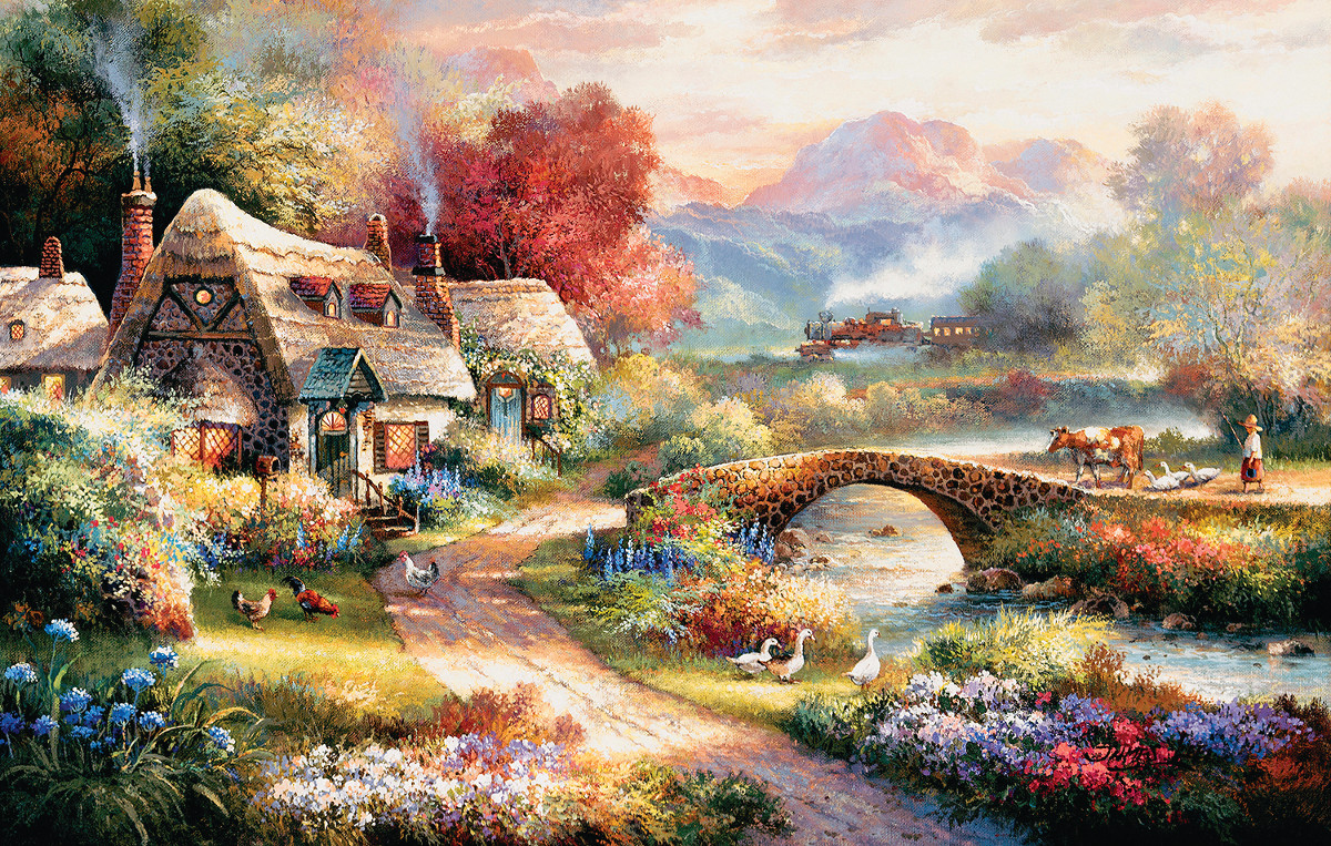 Evening Retreat Landscape Jigsaw Puzzle