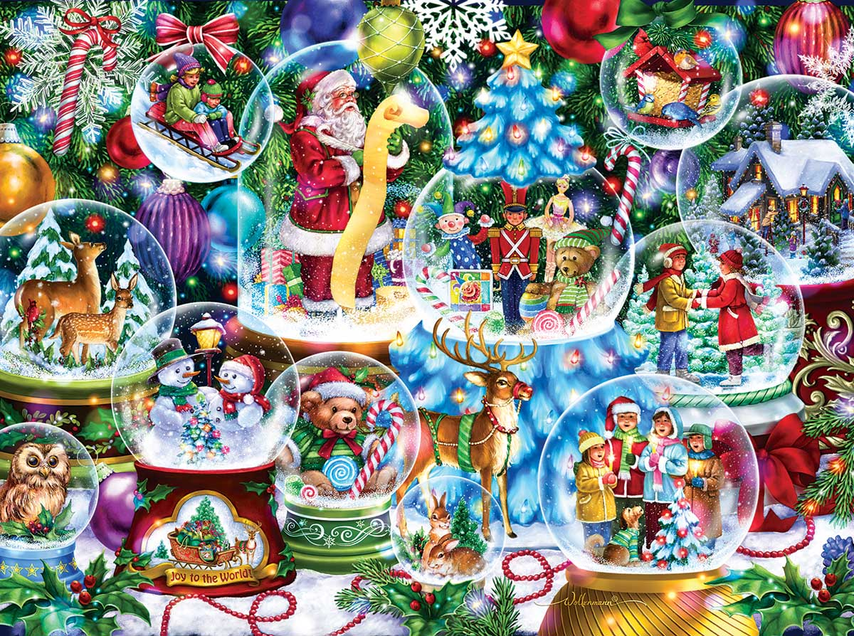 Snow Globe Collection Christmas Jigsaw Puzzle