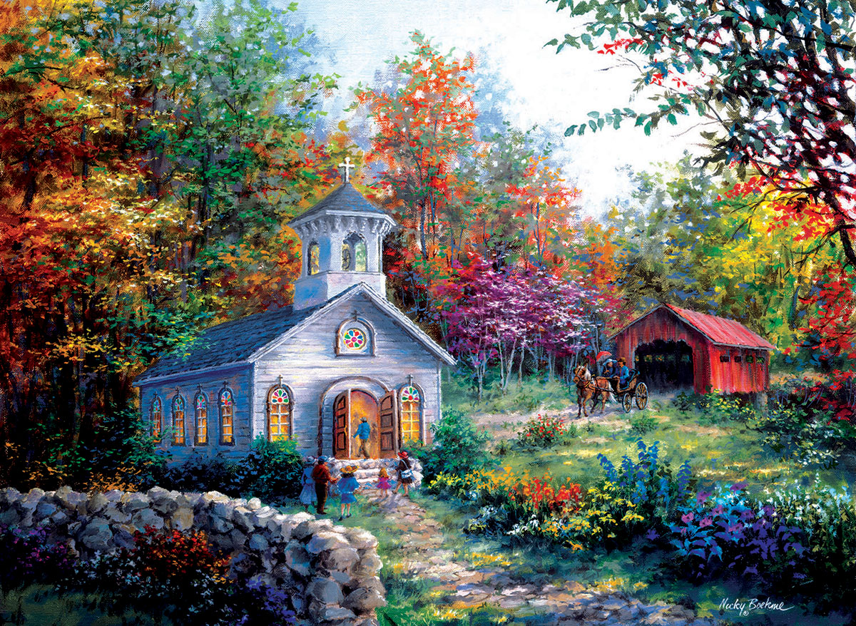 Worship in the Countryside Countryside Jigsaw Puzzle