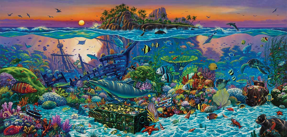 Coral Reef Island Under The Sea Jigsaw Puzzle