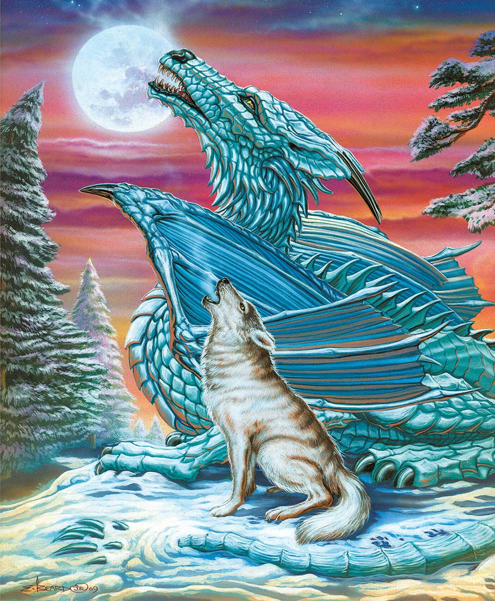 Moon Song Wolves Jigsaw Puzzle
