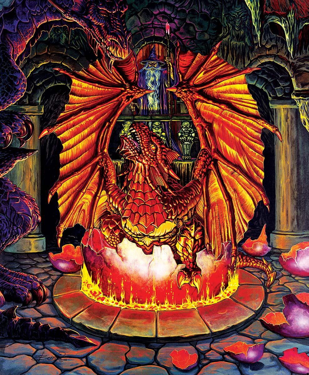 Birth of a Fire Dragon Fantasy Jigsaw Puzzle