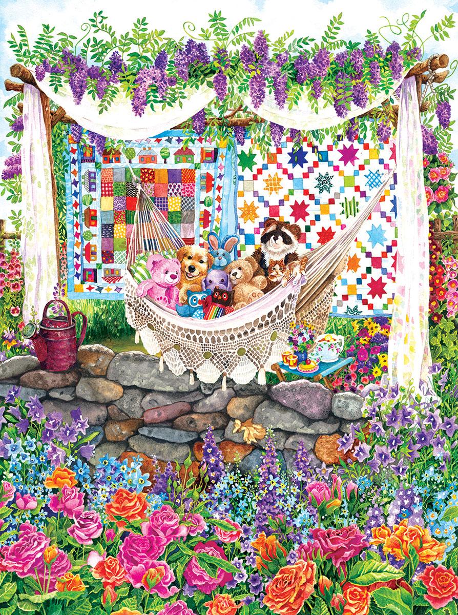 Garden Hammock Garden Jigsaw Puzzle
