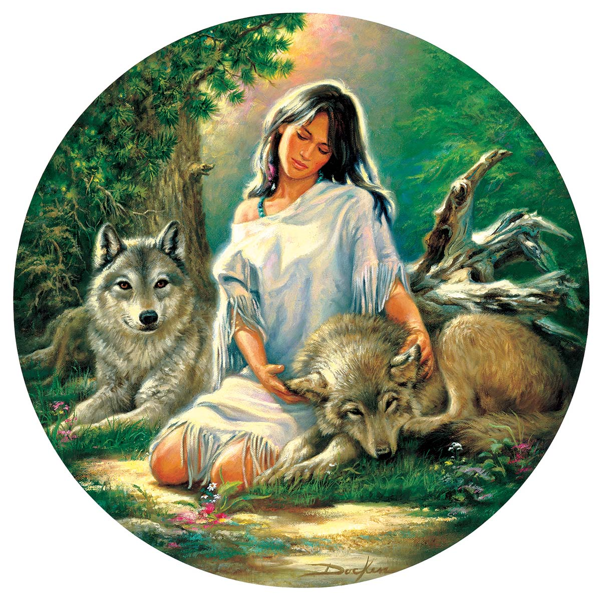 Trusted Friends Wolves Jigsaw Puzzle