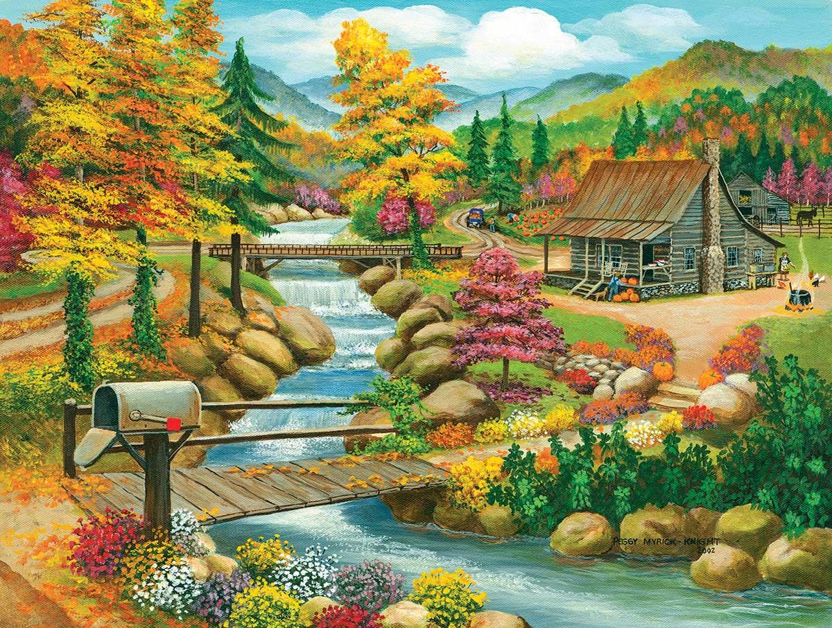 Fall Season Countryside Jigsaw Puzzle