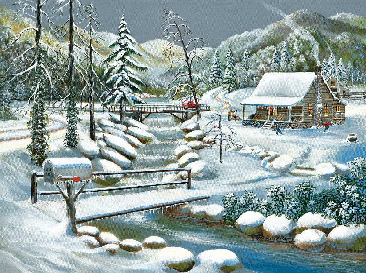 Winter Season Countryside Jigsaw Puzzle