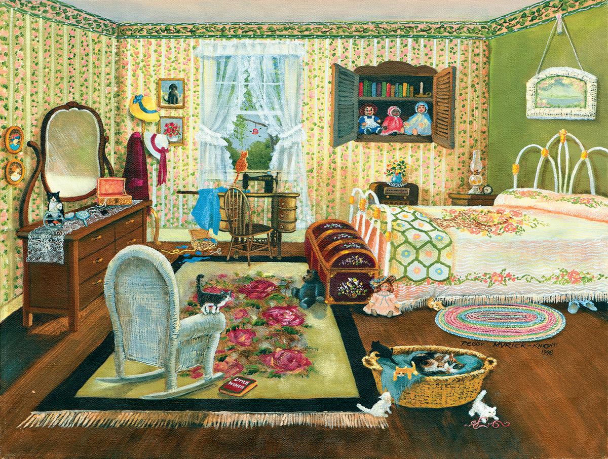 The Bedroom Domestic Scene Jigsaw Puzzle