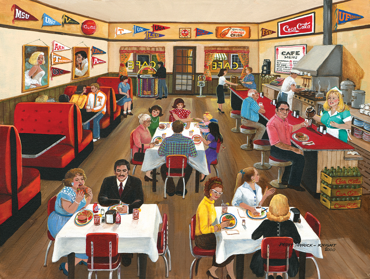 Downtown Cafe Food and Drink Jigsaw Puzzle