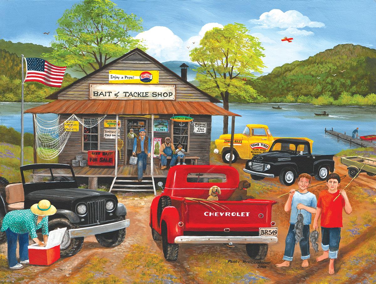 Bait & Tackle Shop Vehicles Jigsaw Puzzle