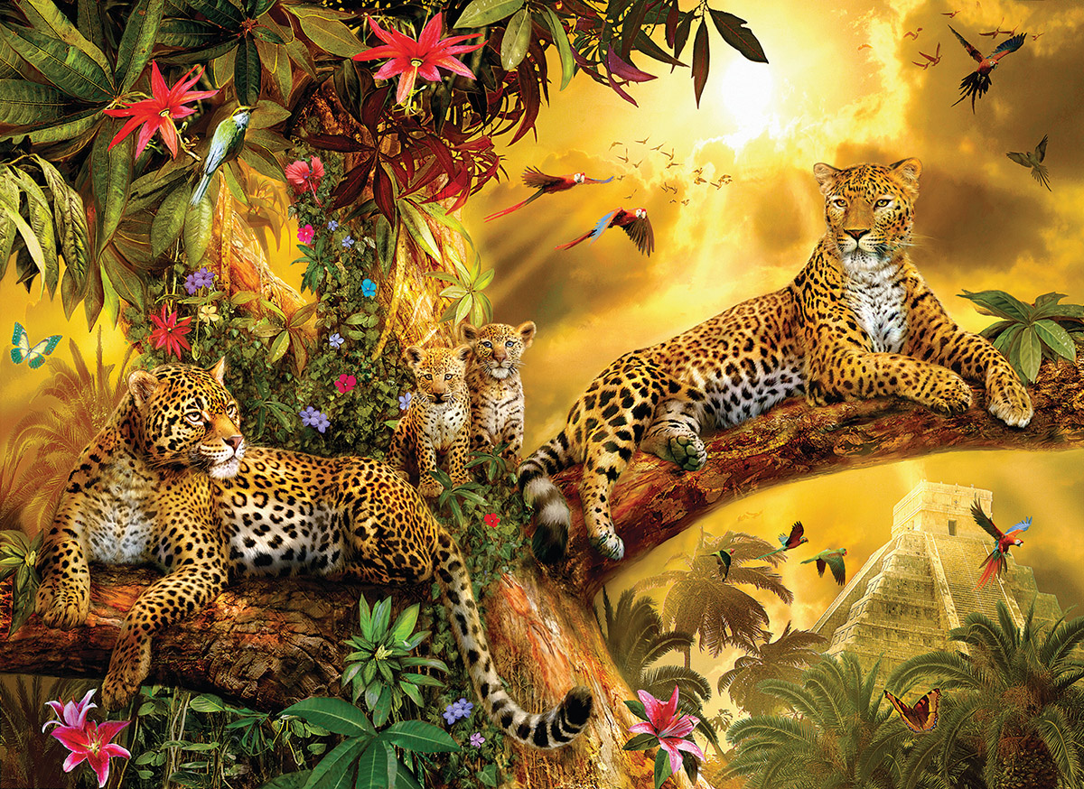 Jungle Jaguars Jungle Animals Jigsaw Puzzle